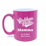 mors dag present kaffemugg rosa